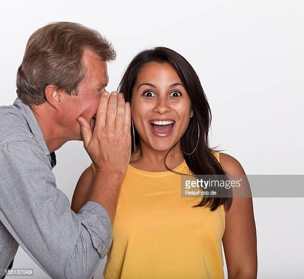 Couple in secret communication