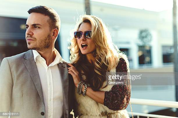Couple de shopping