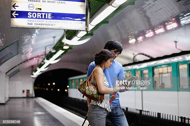 Couple in Subway Station