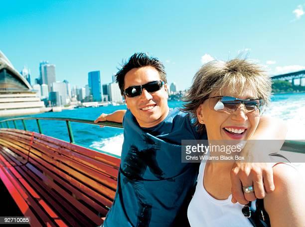 Couple in Sydney Harbour.