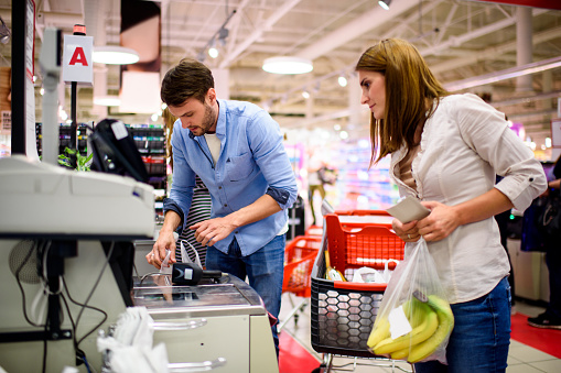Couple in the store - gettyimageskorea