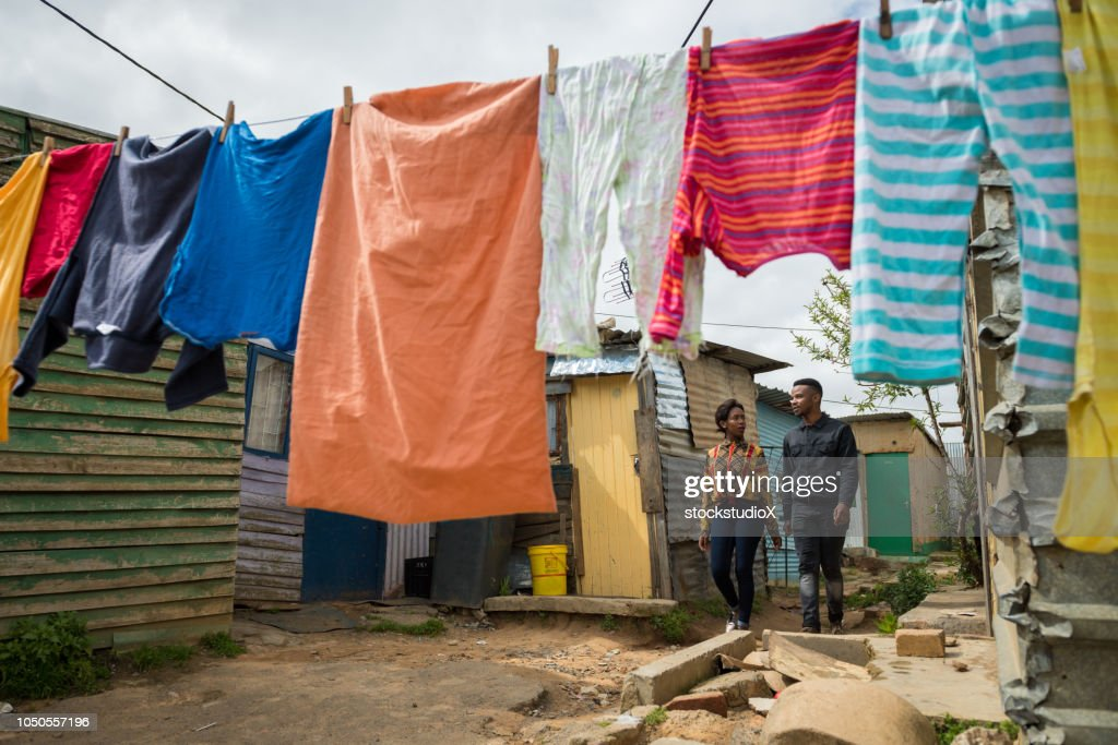 Couple in the Townships of Africa : Stock Photo