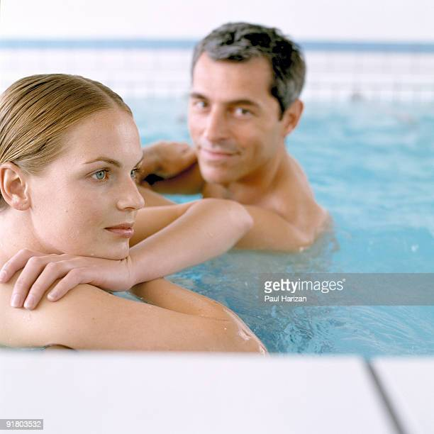 Couple in therapy pool