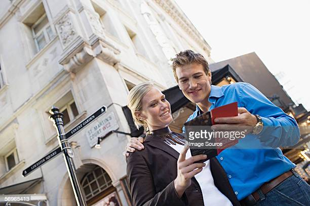 couple in west end of london - west end london stock pictures, royalty-free photos & images