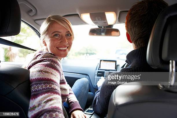 Couple inside car