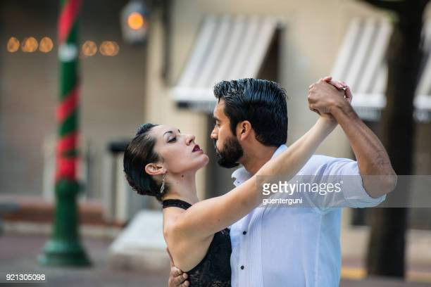 Couple is dancing Tango in Buenos Aires, Argentina