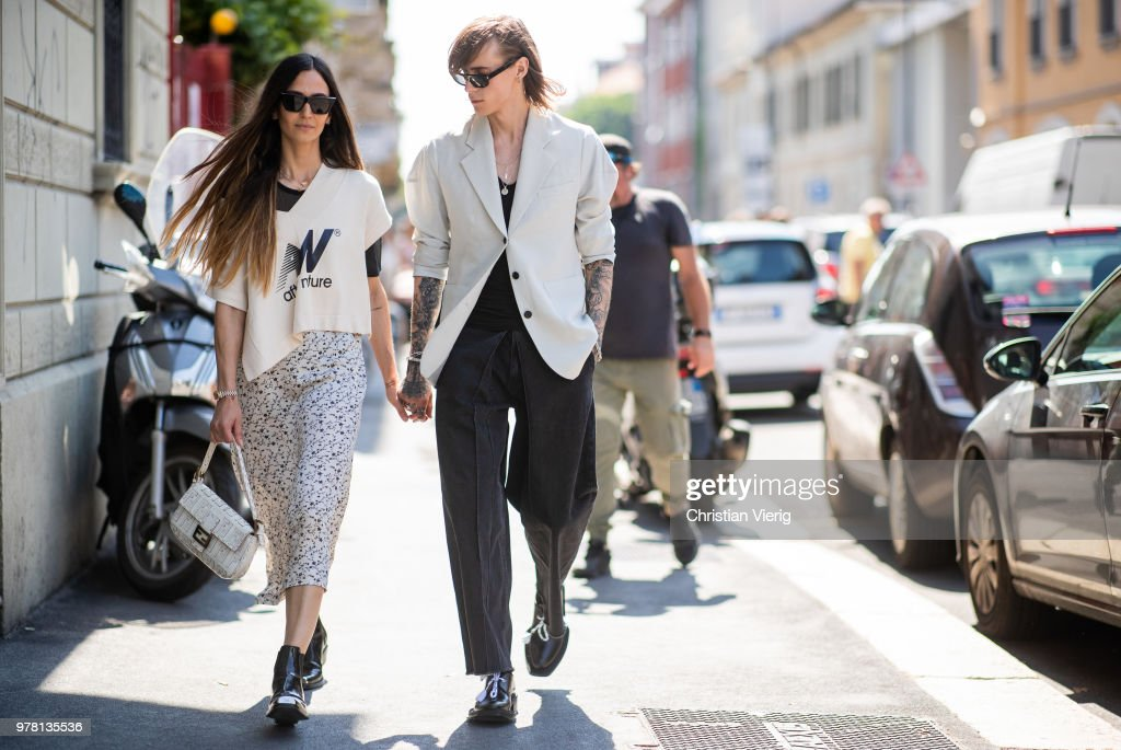 Street Style: June 18 - Milan Men's Fashion Week Spring/Summer 2019 : News Photo