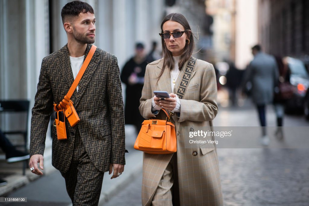 Street Style - Day 2: Milan Fashion Week Autumn/Winter 2019/20 : Photo d'actualité