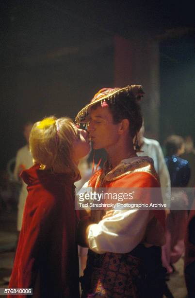 A couple kisses at the Acid Test Graduation a celebration organized by Ken Kesey and his Merry Pranksters in which participants graduated beyond acid...