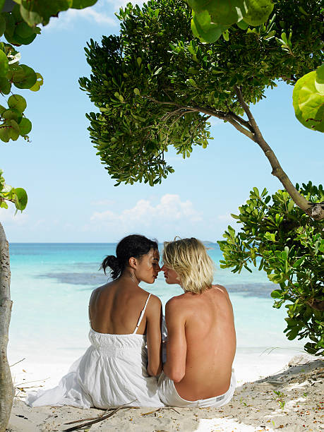 Couple Kissing on Tropical Beach
