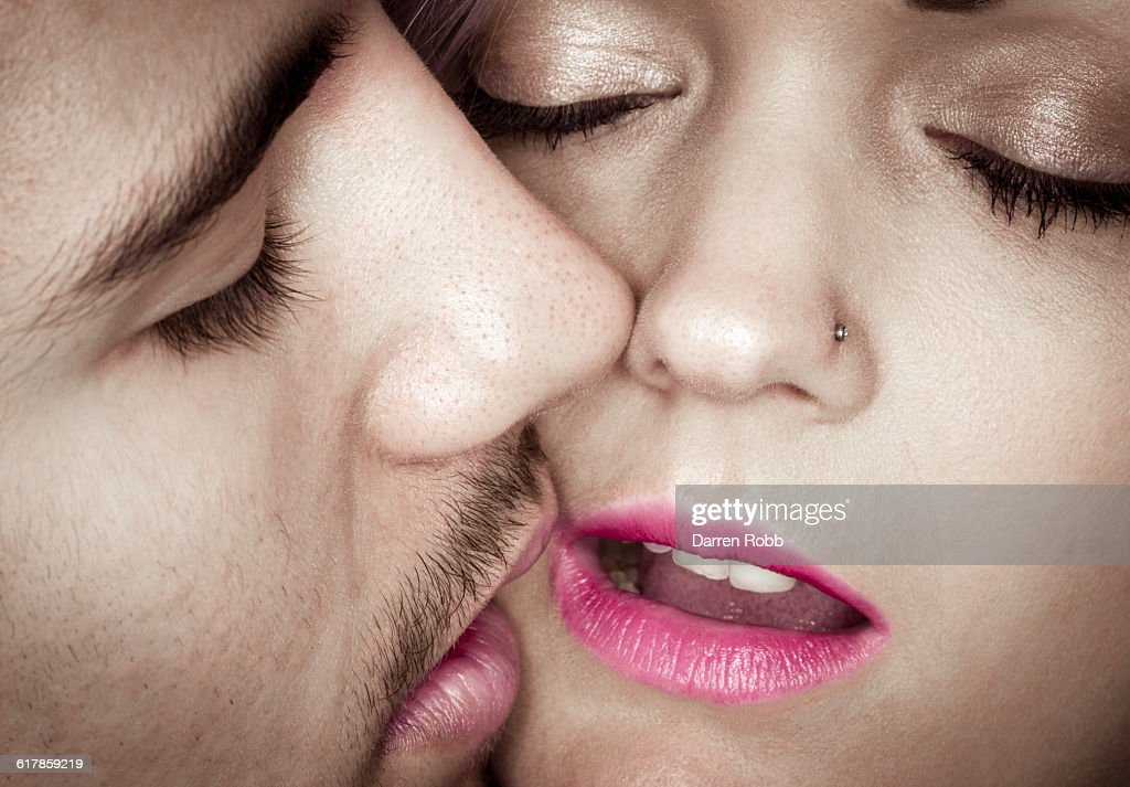 Couple kissing passionately : Stock Photo