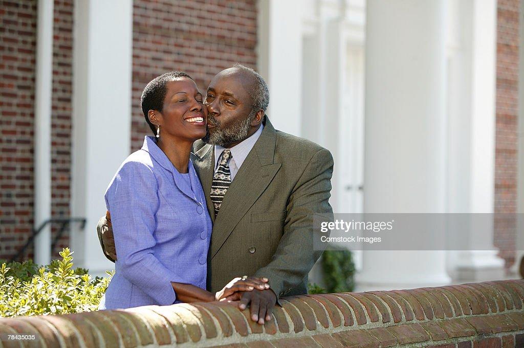 Couple kissing : Stockfoto
