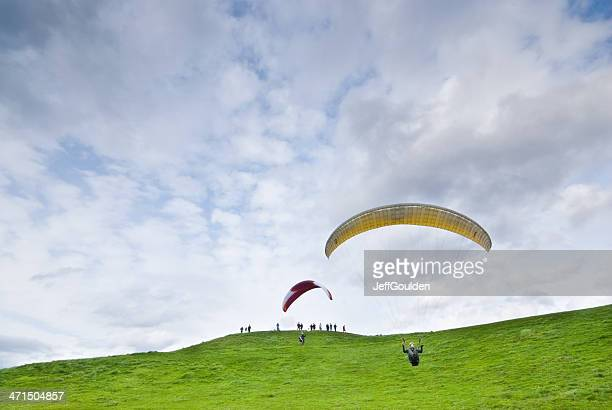 Paragliding at Gasworks Park