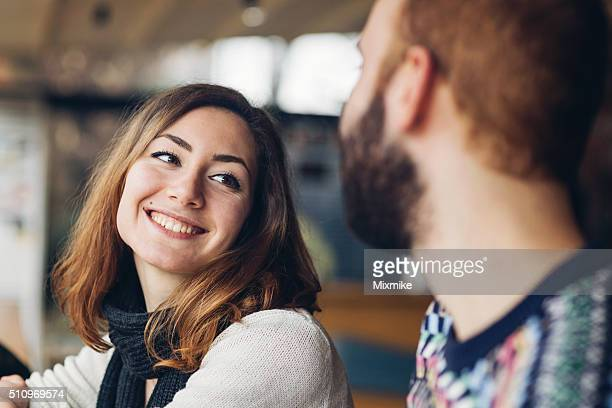 couple laughing - flirting stock pictures, royalty-free photos & images