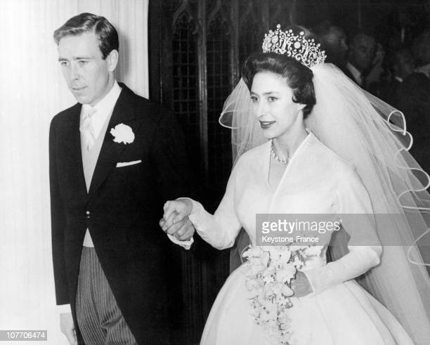 Couple Leaving Westminster Abbey On May 16Th 1960
