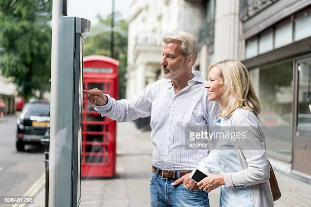 Couple looking at a city map