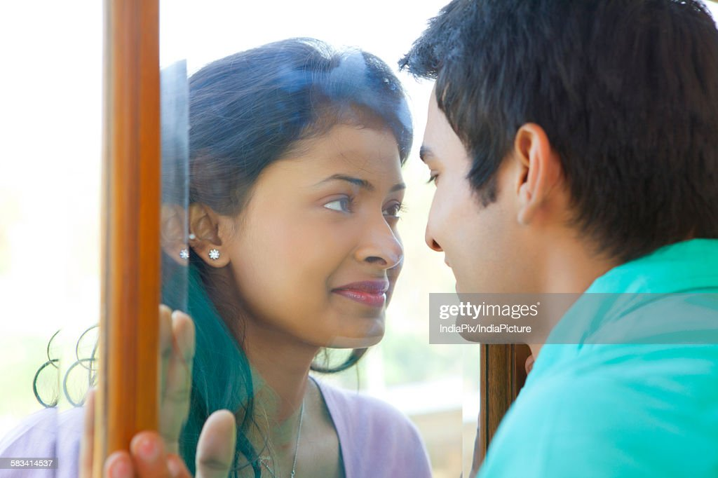 Couple looking at each other : Stock Photo