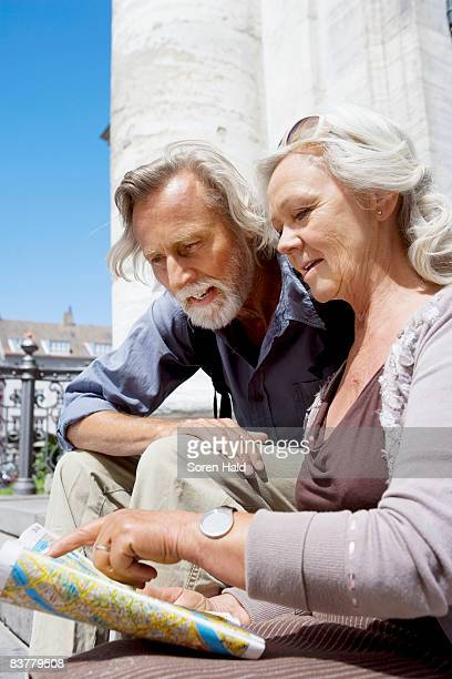 Couple looking at map together