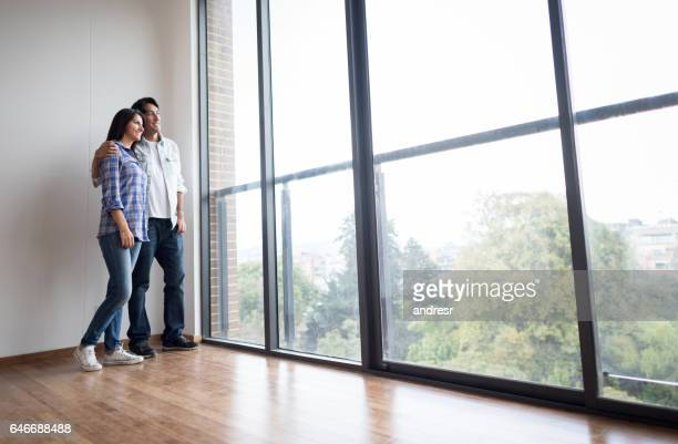Couple looking at the view of their new home