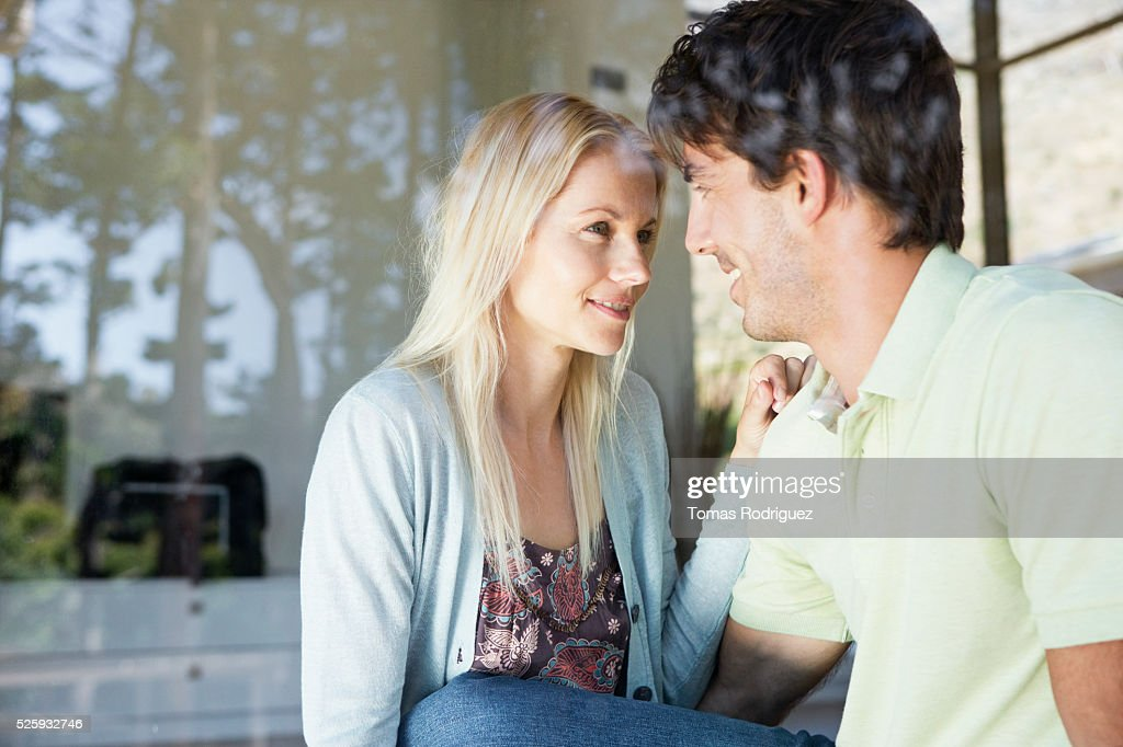 Couple looking in eyes : Stock Photo