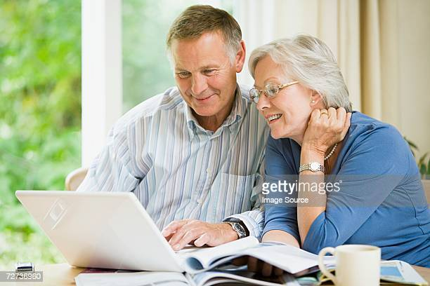 Couple looking on the internet