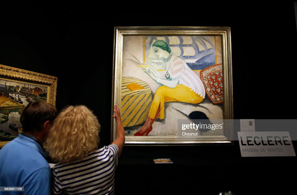 'La Lecture' : Exhibition At Drouot Prior Kees Van Dongen's Artwork Go To Auction