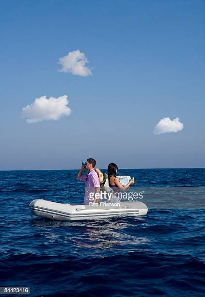 Couple lost at sea on little boat
