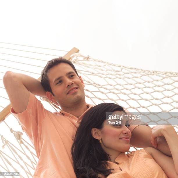 Couple Lounging in Hammock