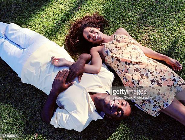 Couple lying down