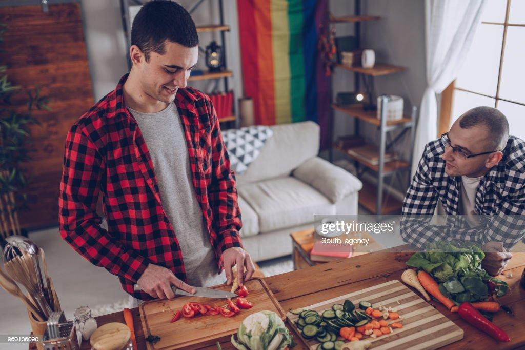 Paar, eine Mahlzeit zusammen : Stock-Foto