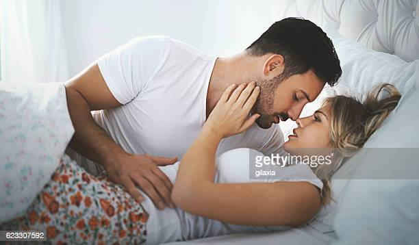 couple making love. - erotische stockfoto's en -beelden