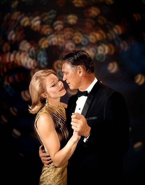 Couple Man Woman Arm In Arm Dance Embrace Date Romance.