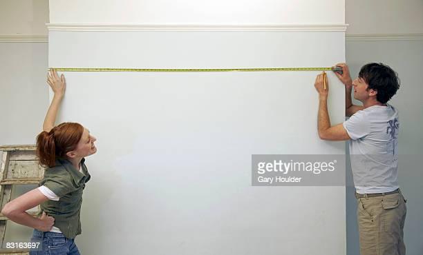 Coppia di misura e marcatura una parete