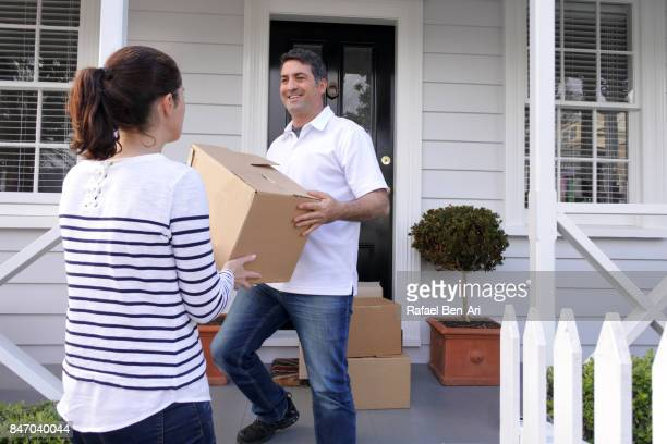 Couple moves into their new home