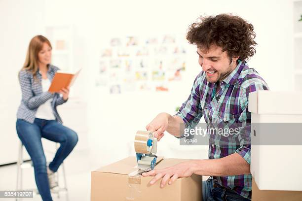 Couple moving house.