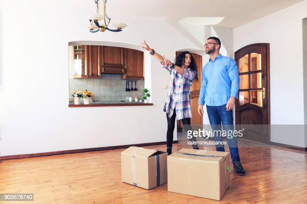 Couple moving house