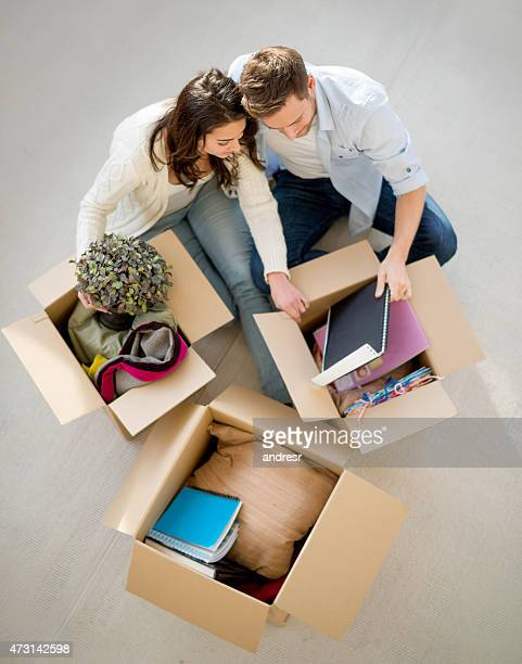 Couple moving in together