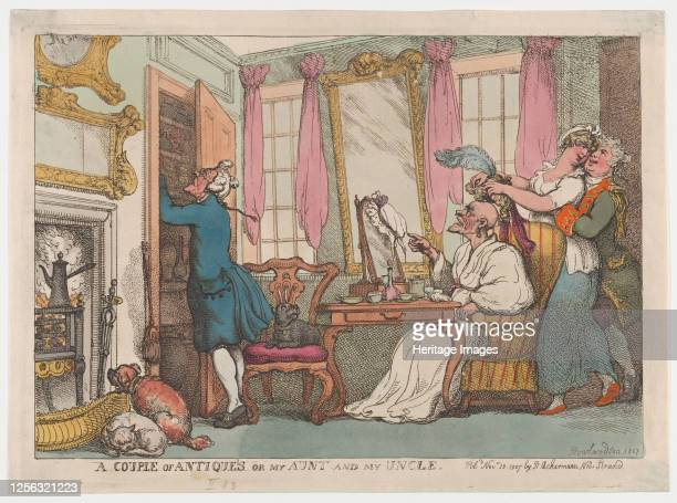 Couple of Antiques or my Aunt and my Uncle, November 20, 1807. Artist Thomas Rowlandson.