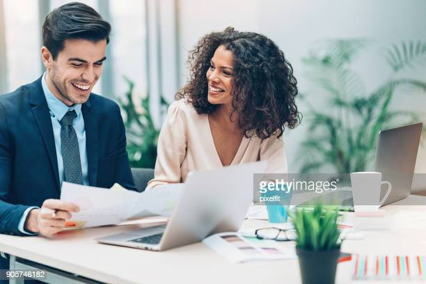 couple of business persons on a meeting - secretary stock photos and pictures