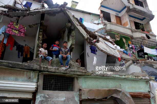A couple of families are still living in a demolished building after the Bangladesh Inland Water Transport Authority evacuation These illegal...
