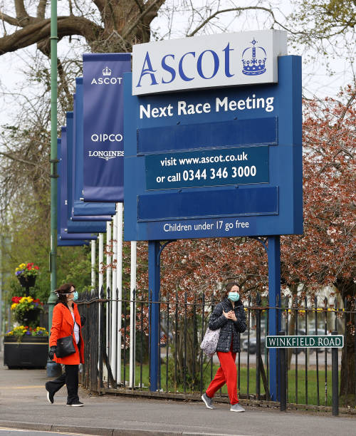 GBR: General views of Ascot Racecourse as Racing at Venue is Affected due to the ongoing Lockdown Due To Coronavirus