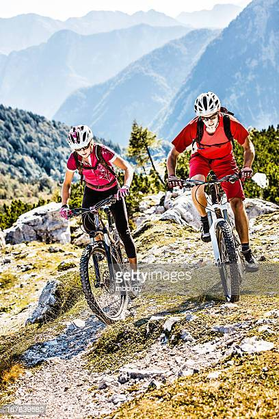Couple of mountainbikers