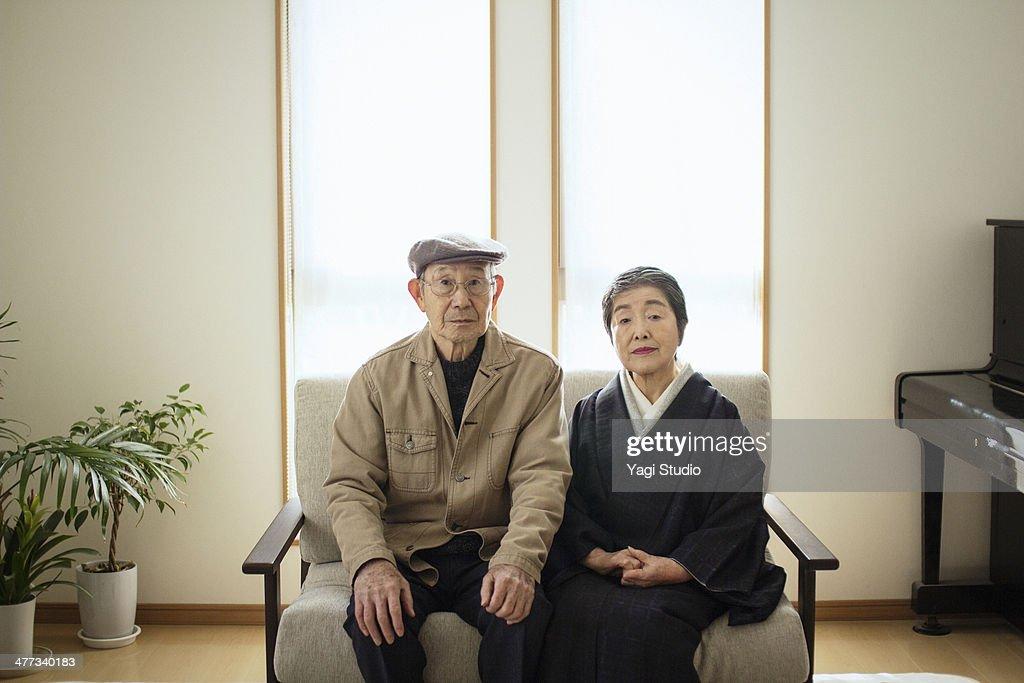 Couple of senior, Japan : Stock Photo