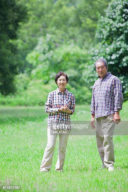 Couple of smile of Japanese