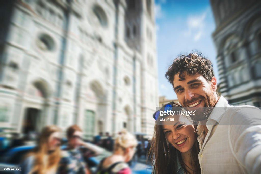 Paar von Touristen in Florenz, in Italien : Stock-Foto