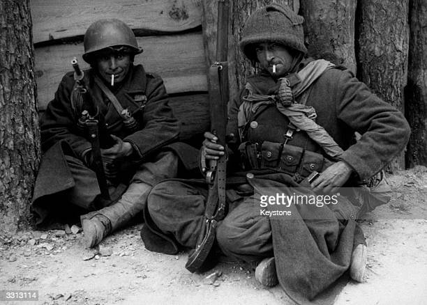 A couple of Tunisian soldiers who are fighting in Germany