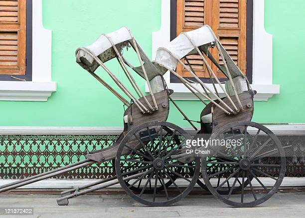 Couple of vintage rickshaws