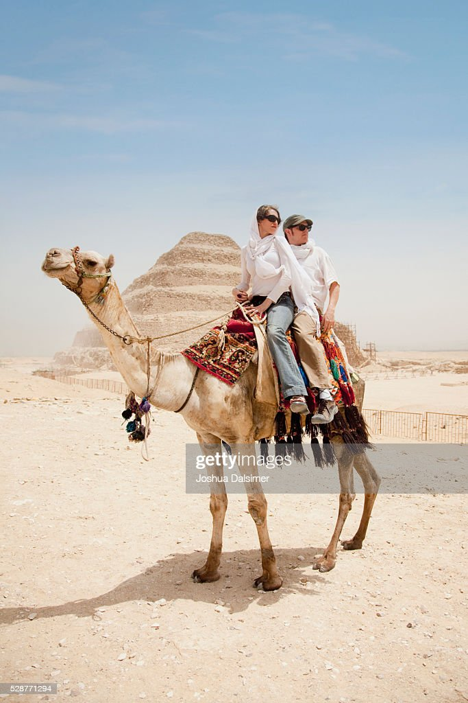 Couple on a camel : Stock Photo