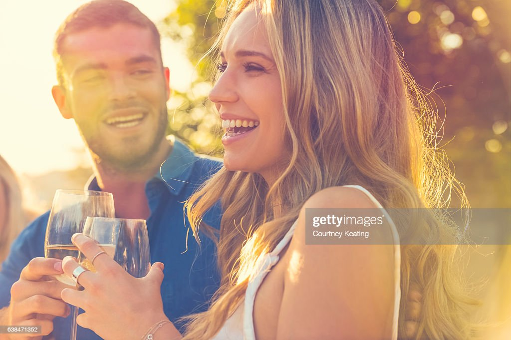 Couple on a date at as restaurant. : Stock Photo