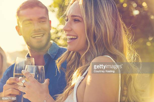 couple on a date at as restaurant. - outdoor party stock pictures, royalty-free photos & images